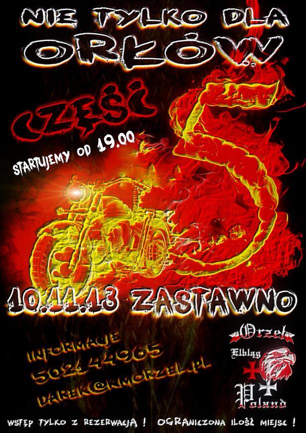 Клуб ORZEŁ приглашает Калининградских мотоциклистов на закрытие сезона. 10 ноября 2013